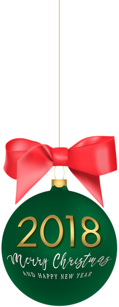 New yeard ornaments png. Christmas ball clipart at