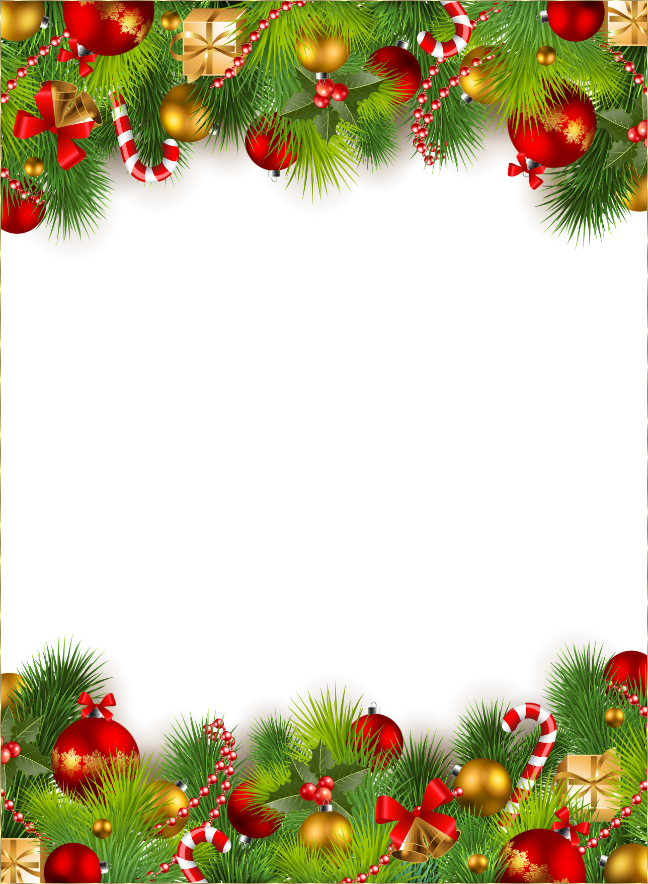 Christmas border .png. Zoom in real dimensions