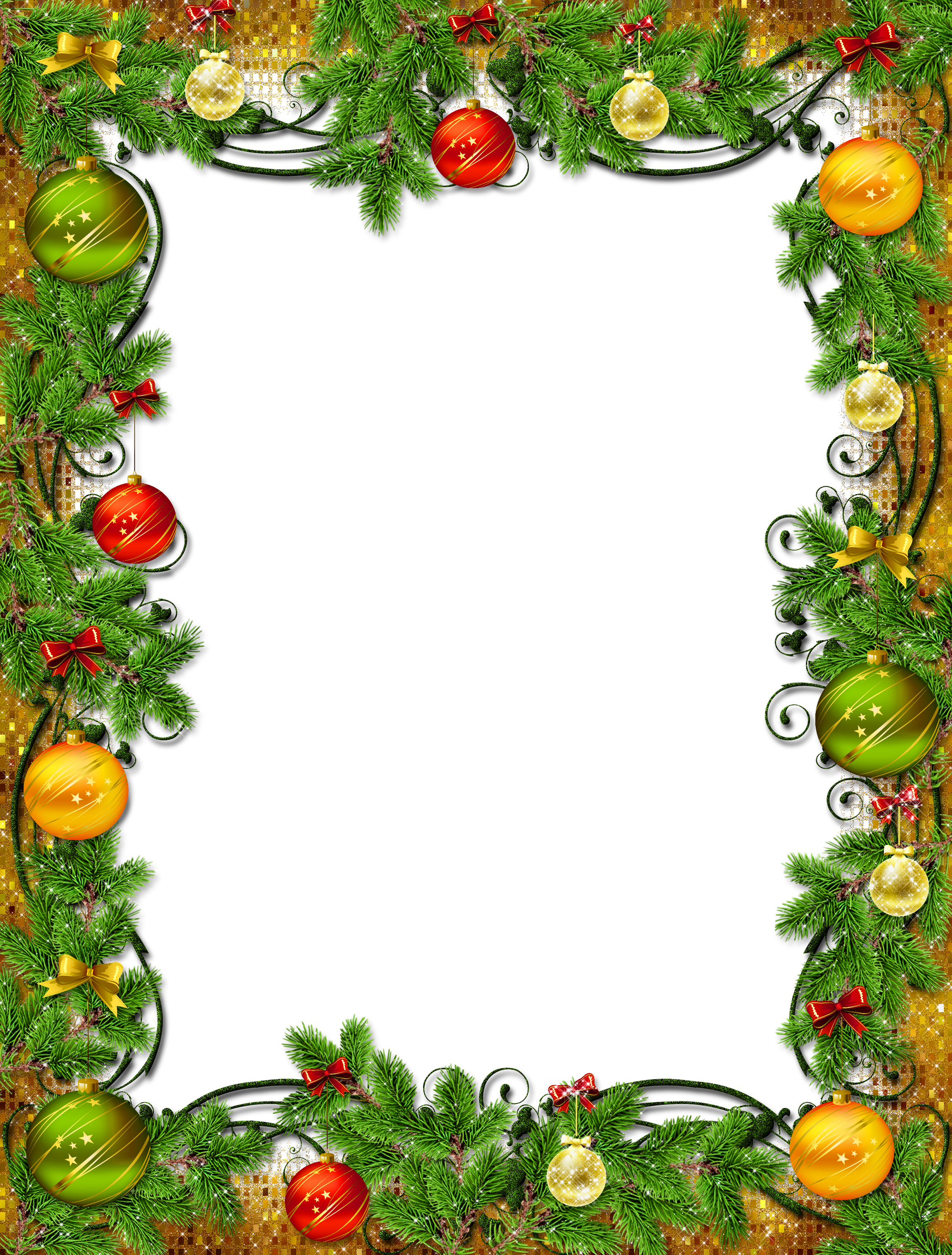 Beautiful png photo frame. Christmas borders .png clipart black and white stock