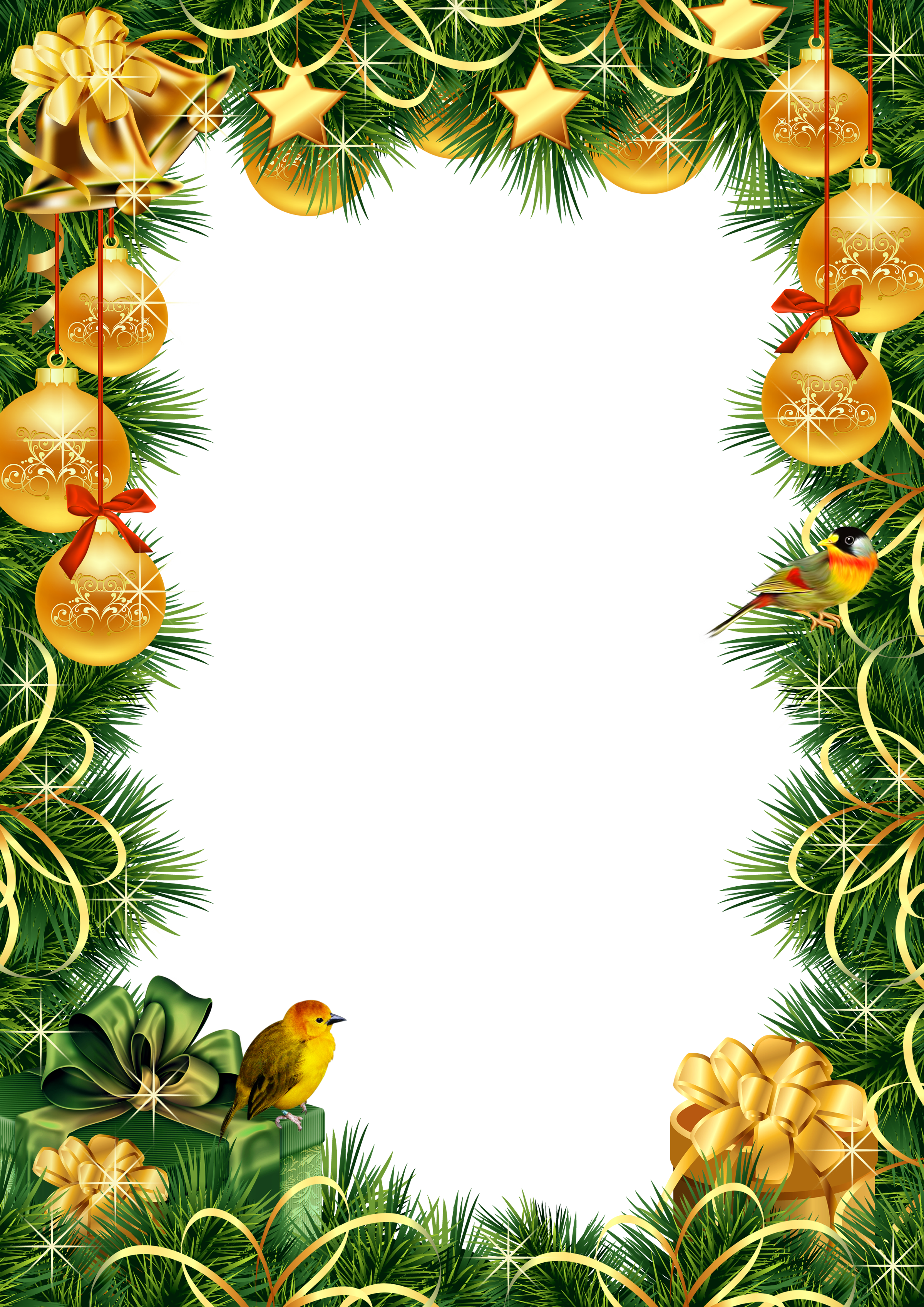 Transparent png photo frame. Christmas borders .png royalty free