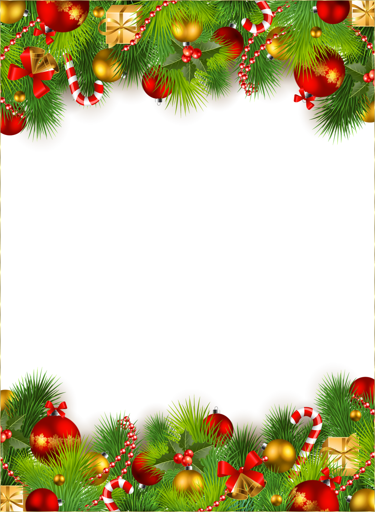 Christmas border transparent png. Images download decoration