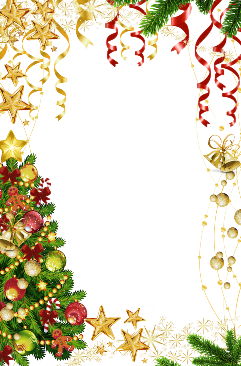 Christmas border .png. Transparent photo frame with