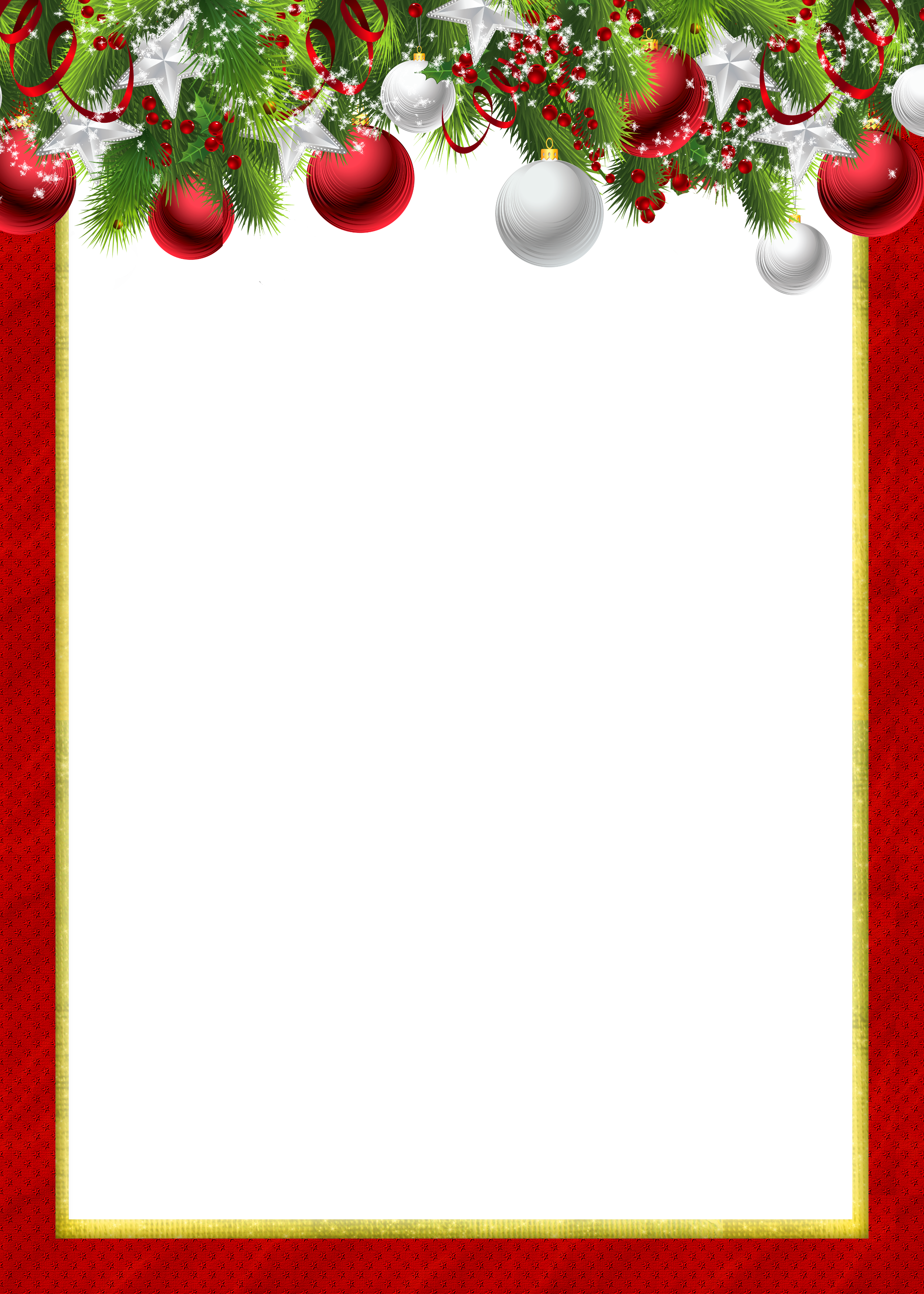 Christmas borders and frames png. Red transparent photo frame