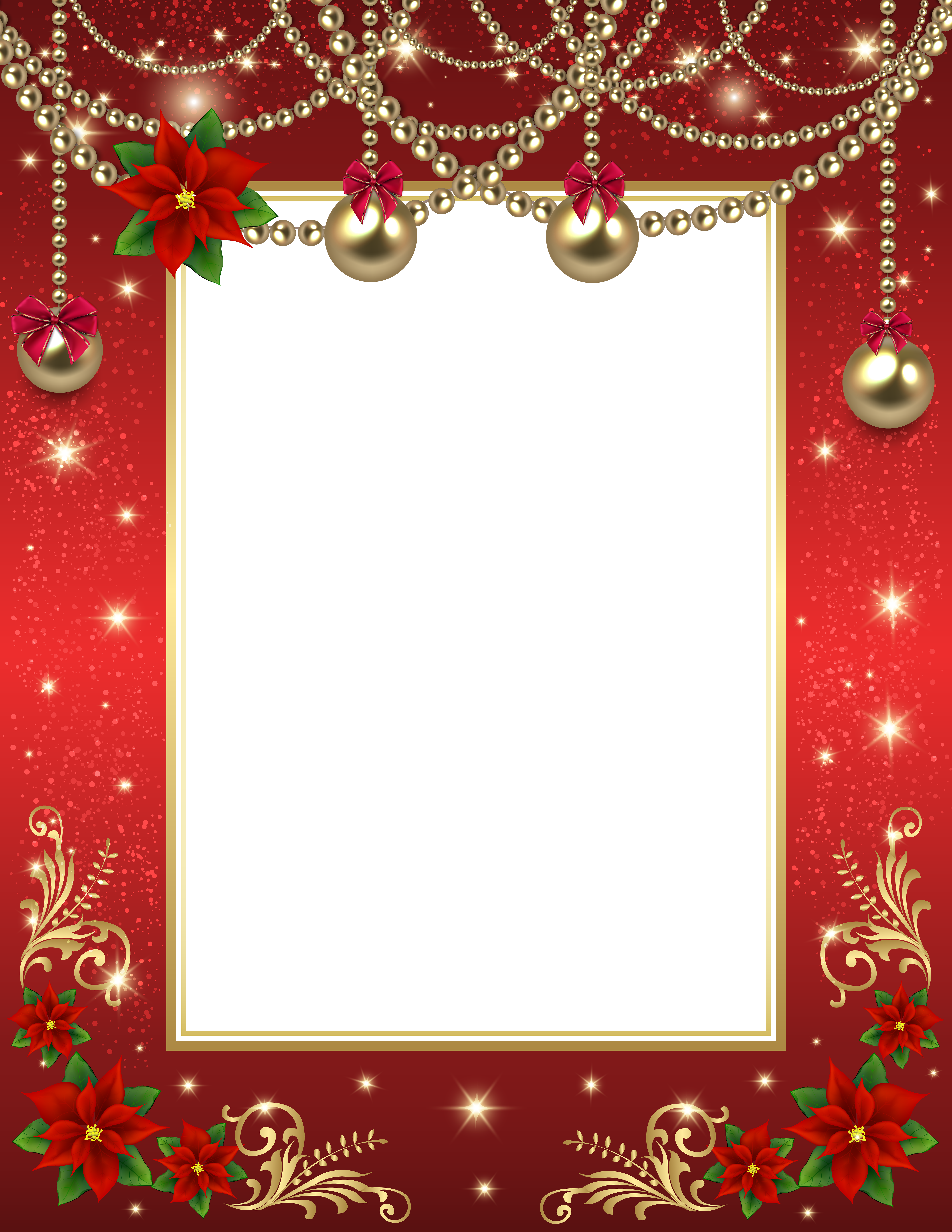 Christmas borders .png. Transparent png photo frame