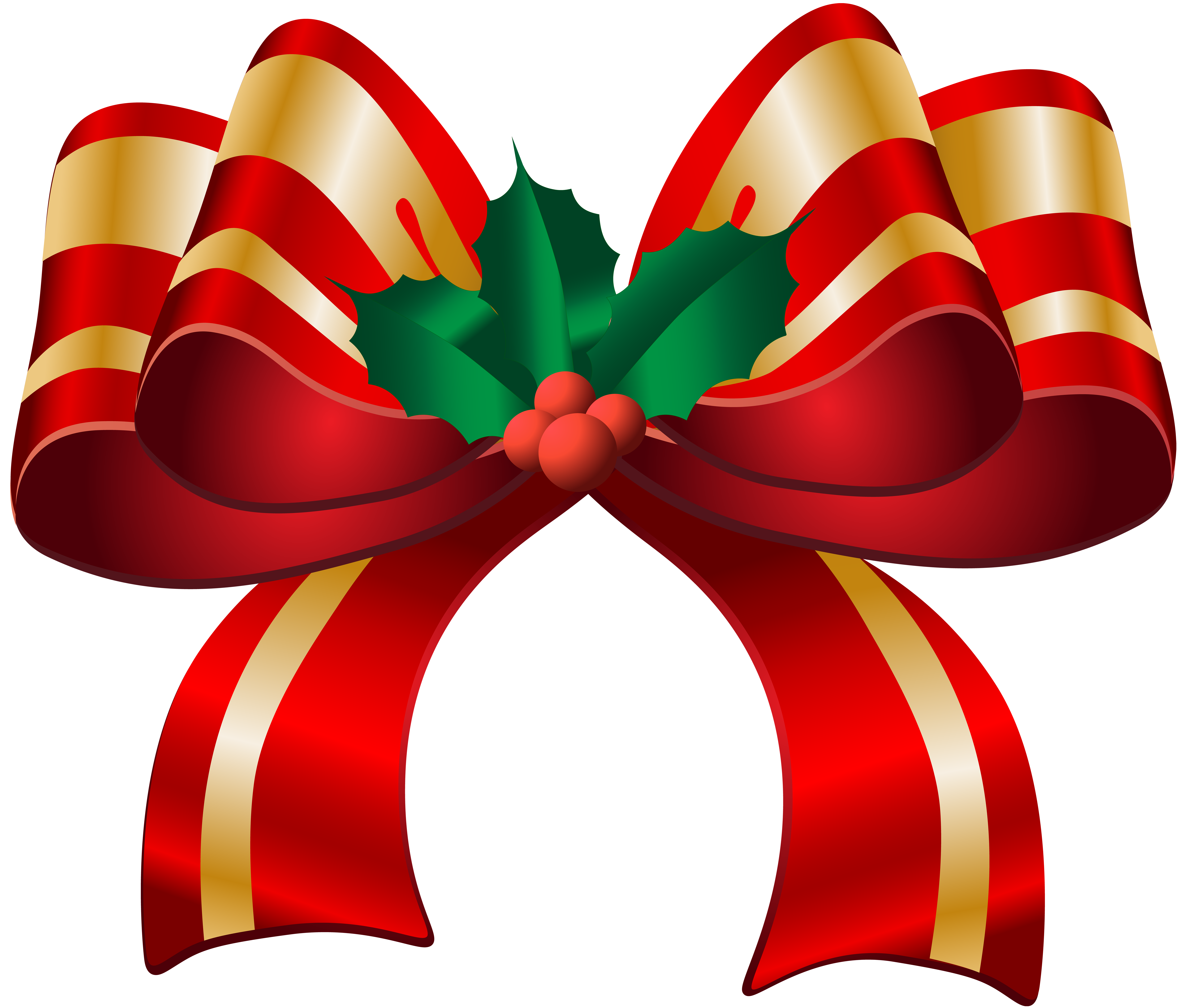 Christmas bow png. Red transparent clip art