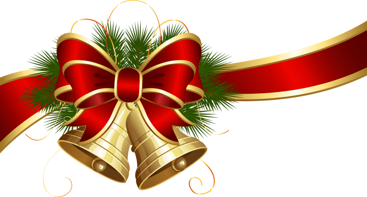 Christmas bow png transparent. Bells with red clipart