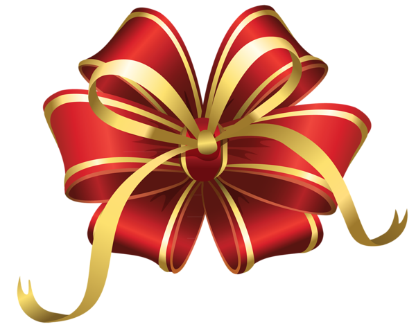 Christmas bow png transparent. Red decorative clipart gallery