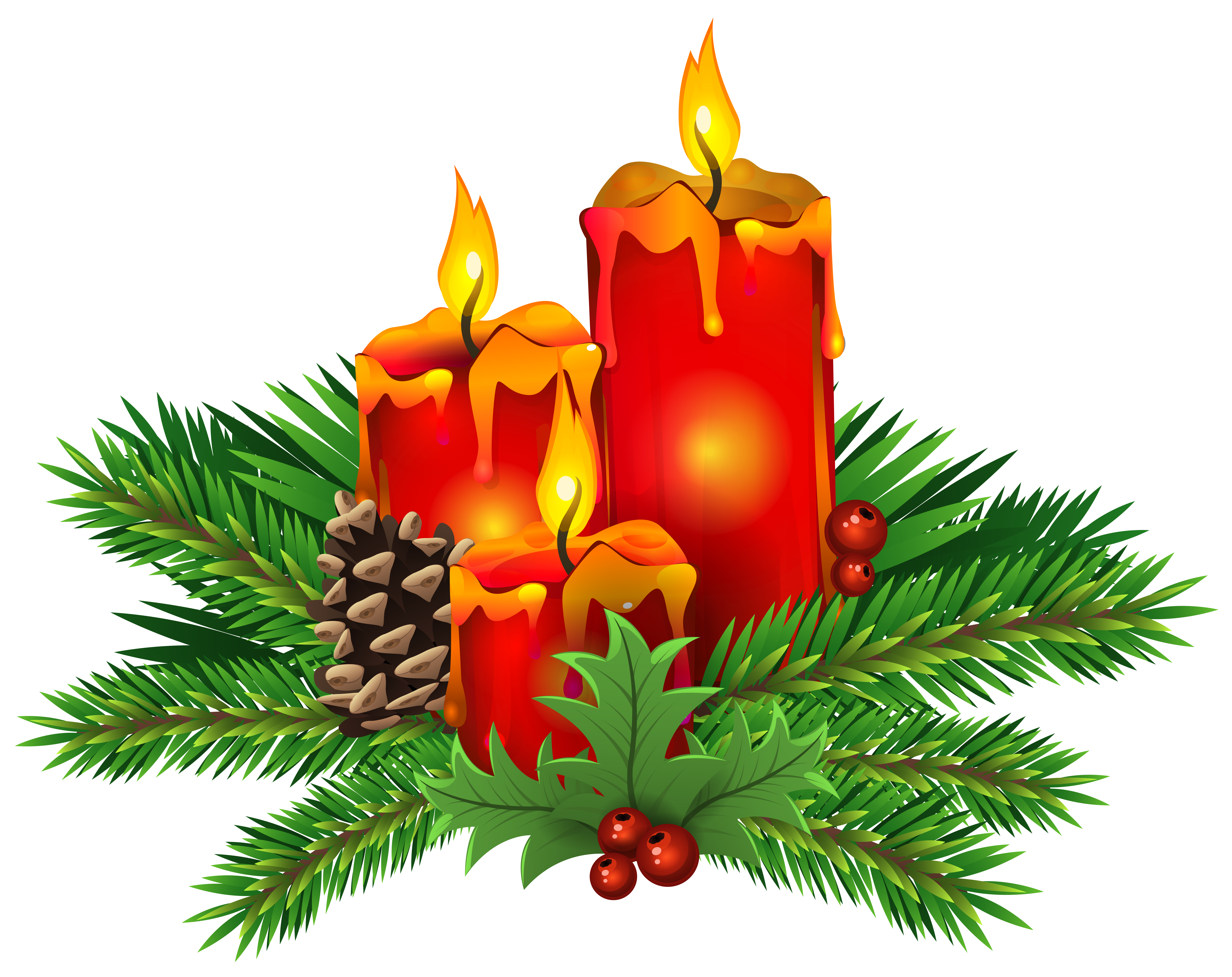 Christmas candle png. Candles clip art image