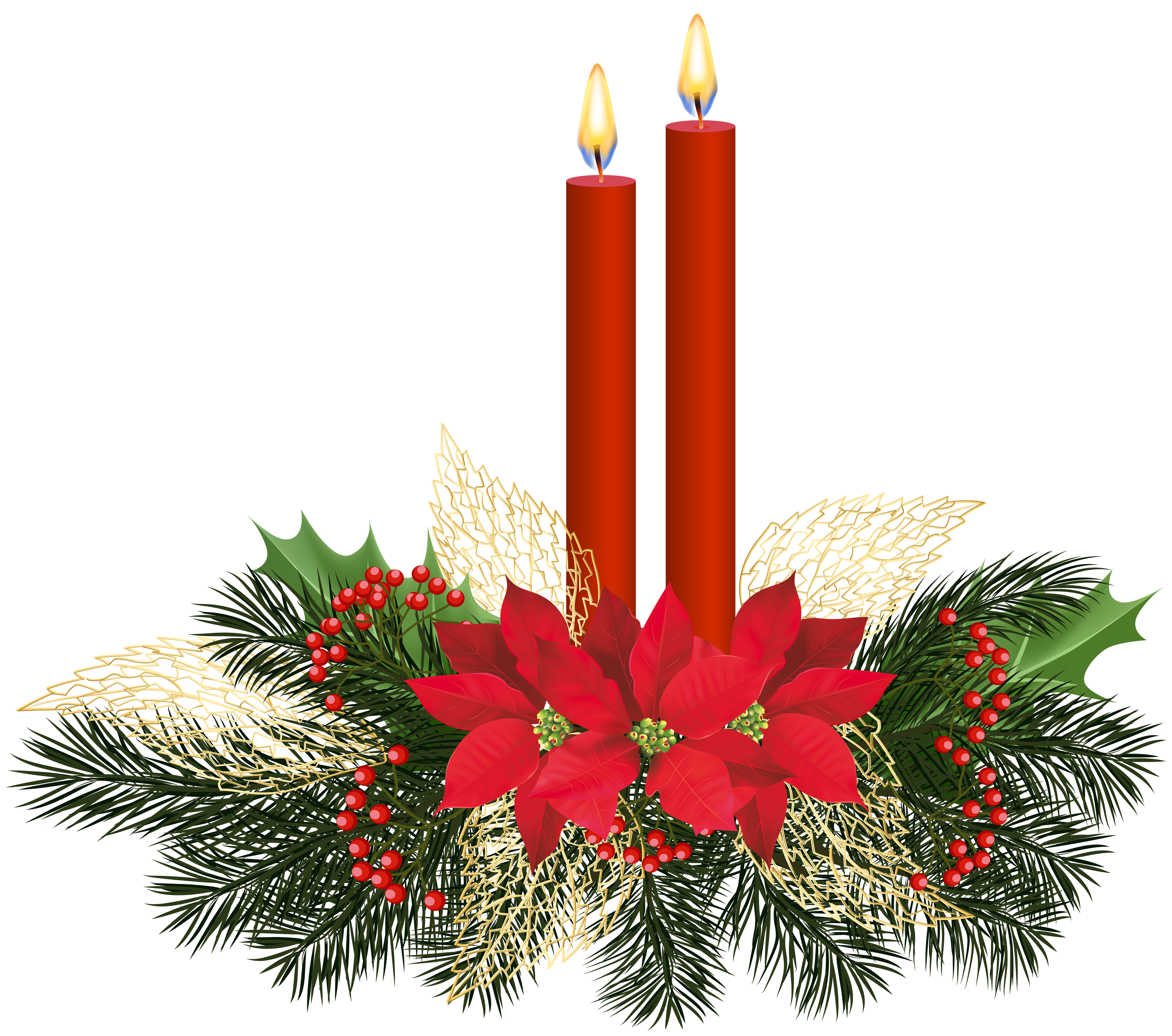 Christmas candle png. Candles clip art gallery