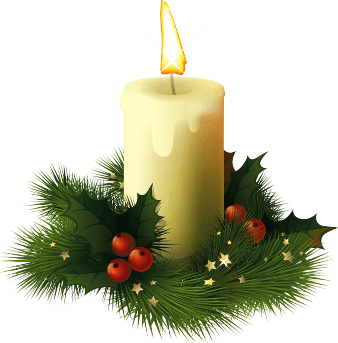 Christmas candles png. Candle transparent stickpng
