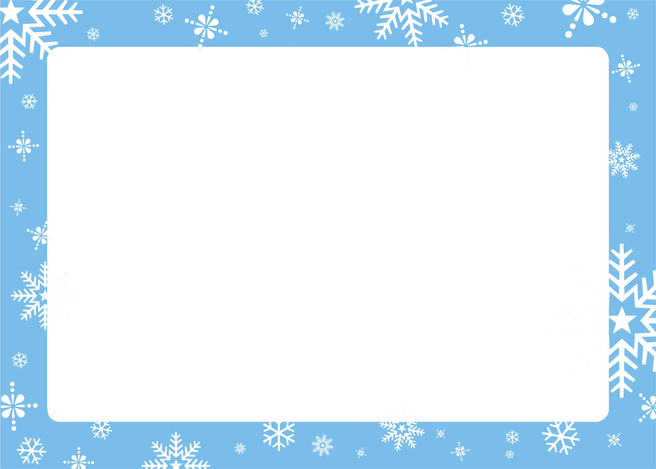 Holiday greeting card border png