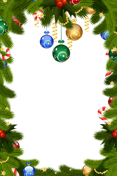 Holiday Border Ornaments Transparent Png Clipart Free Download