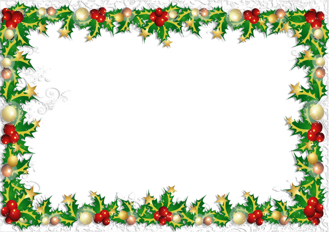Christmas card border png. Transparent photo frame gallery