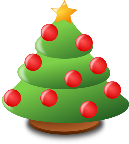 Christmas cartoon png. Free tree download clip