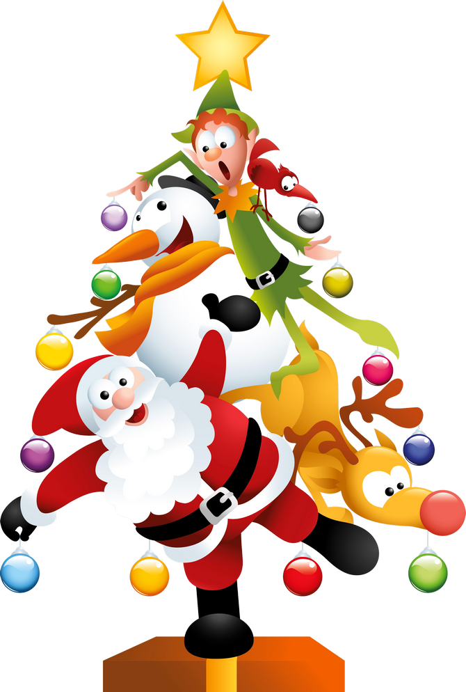 Christmas clip art png. Funny transparent tree clipart