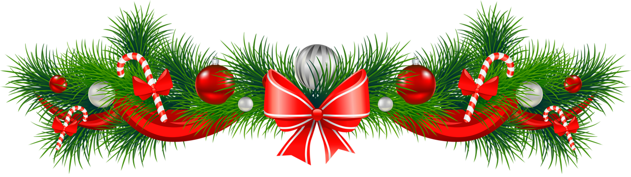 Christmas clip art png. Transparent pine garland with