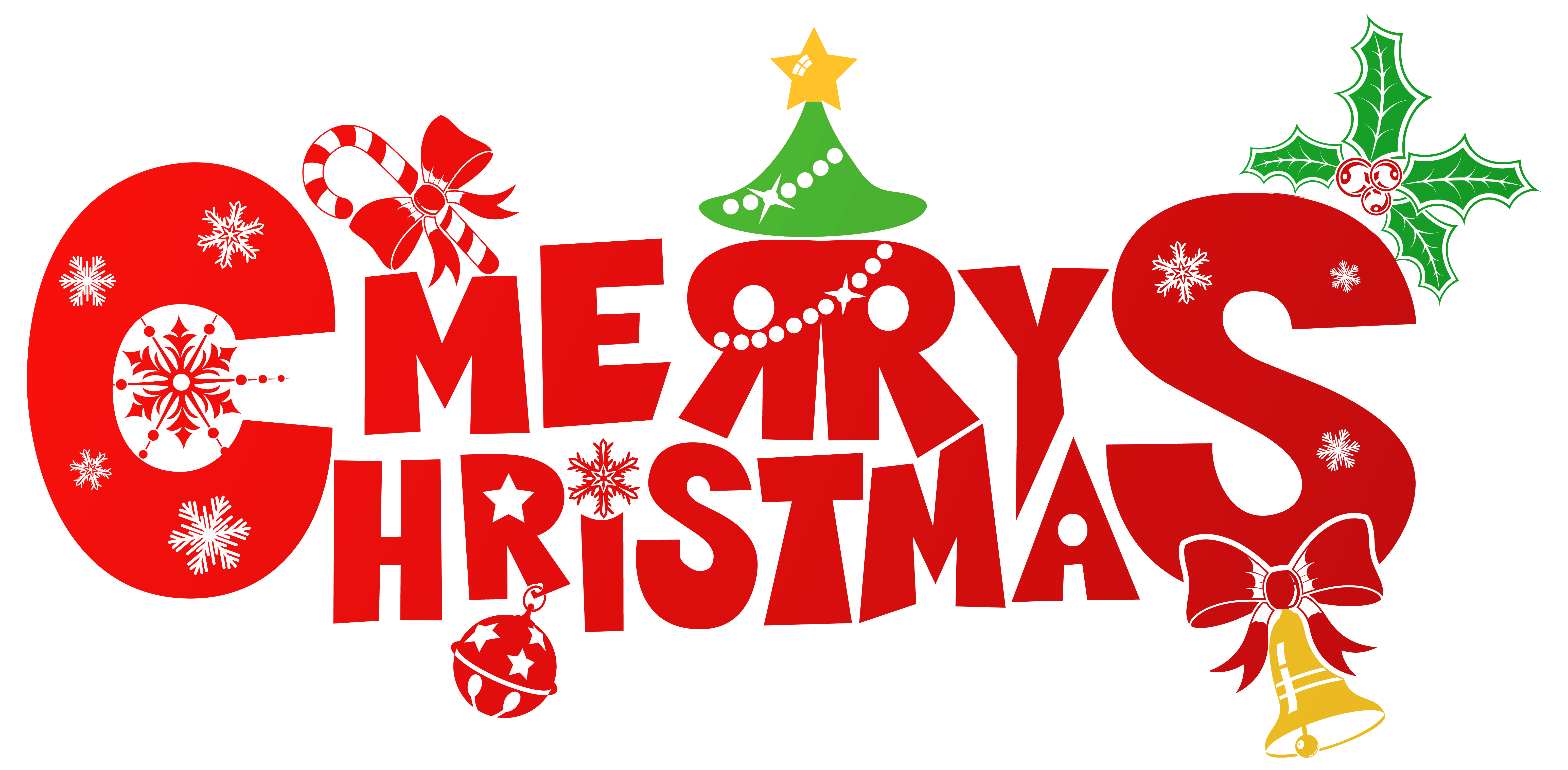 Red merry png image. Christmas clipart graphic download