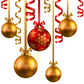 Christmas clipart bauble. Baubles happy holidays