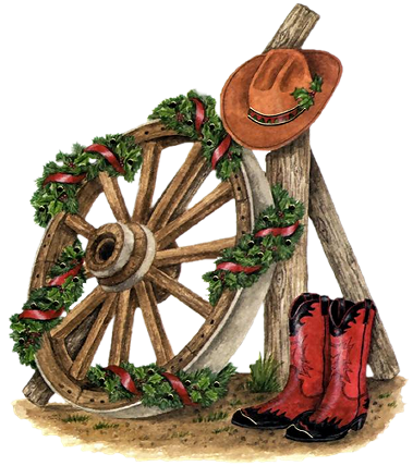 Country western christmas clip