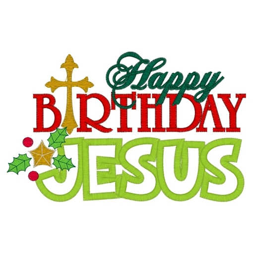 Christmas clipart happy birthday. Jesus at getdrawings com