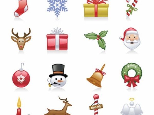 Christmas clipart icon. Icons