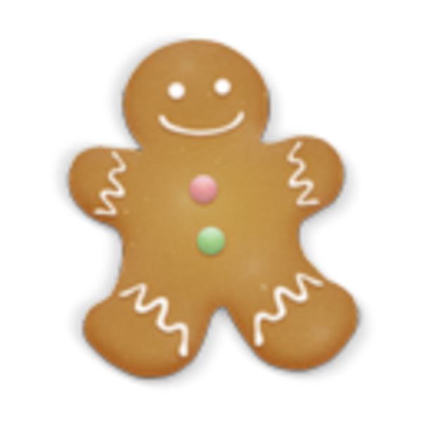 Christmas clipart icon. Cookie man free images