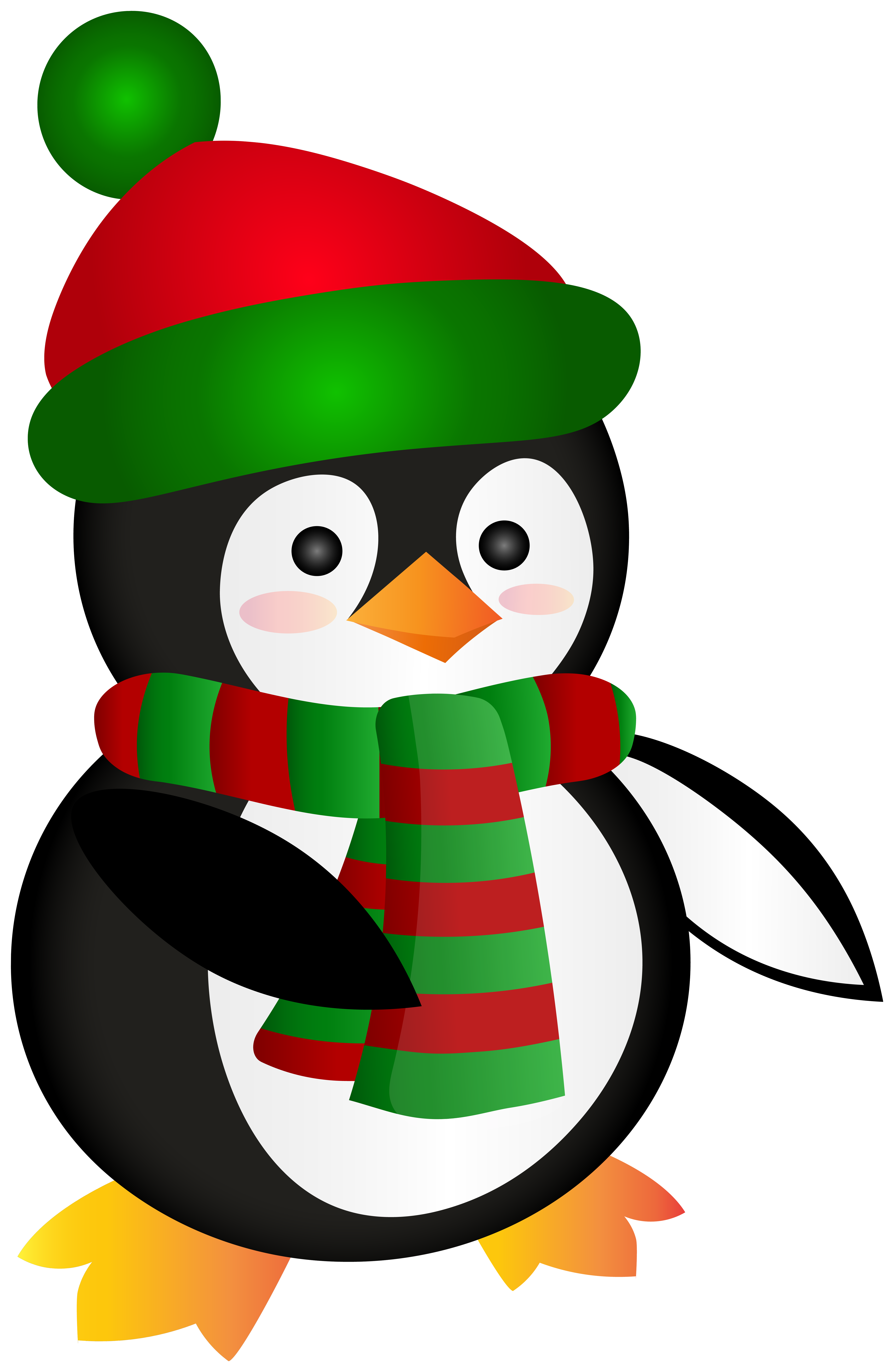 Penguin clipart summer. Cute christmas clip art
