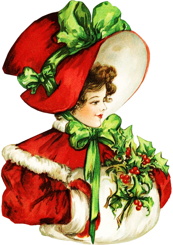 Christmas clipart victorian. Uploads clipartplace lady png