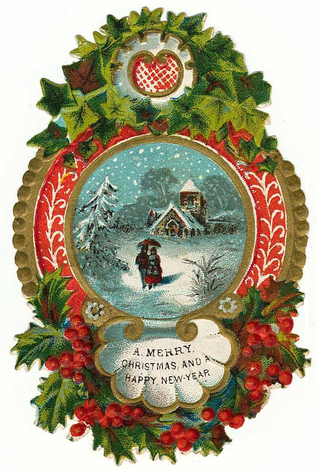 Christmas clipart victorian. Borders