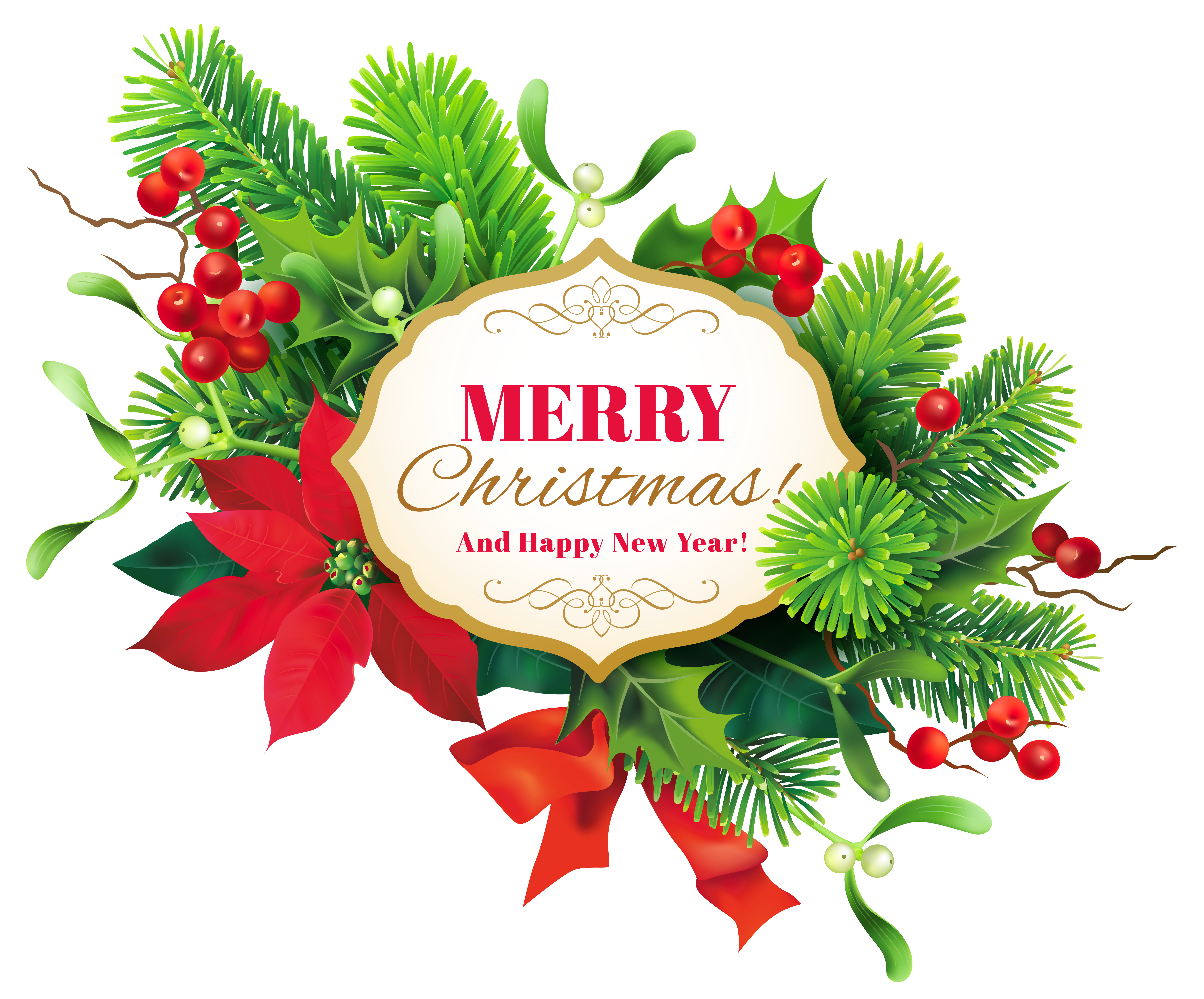 Christmas decor png. Merry clipart image gallery