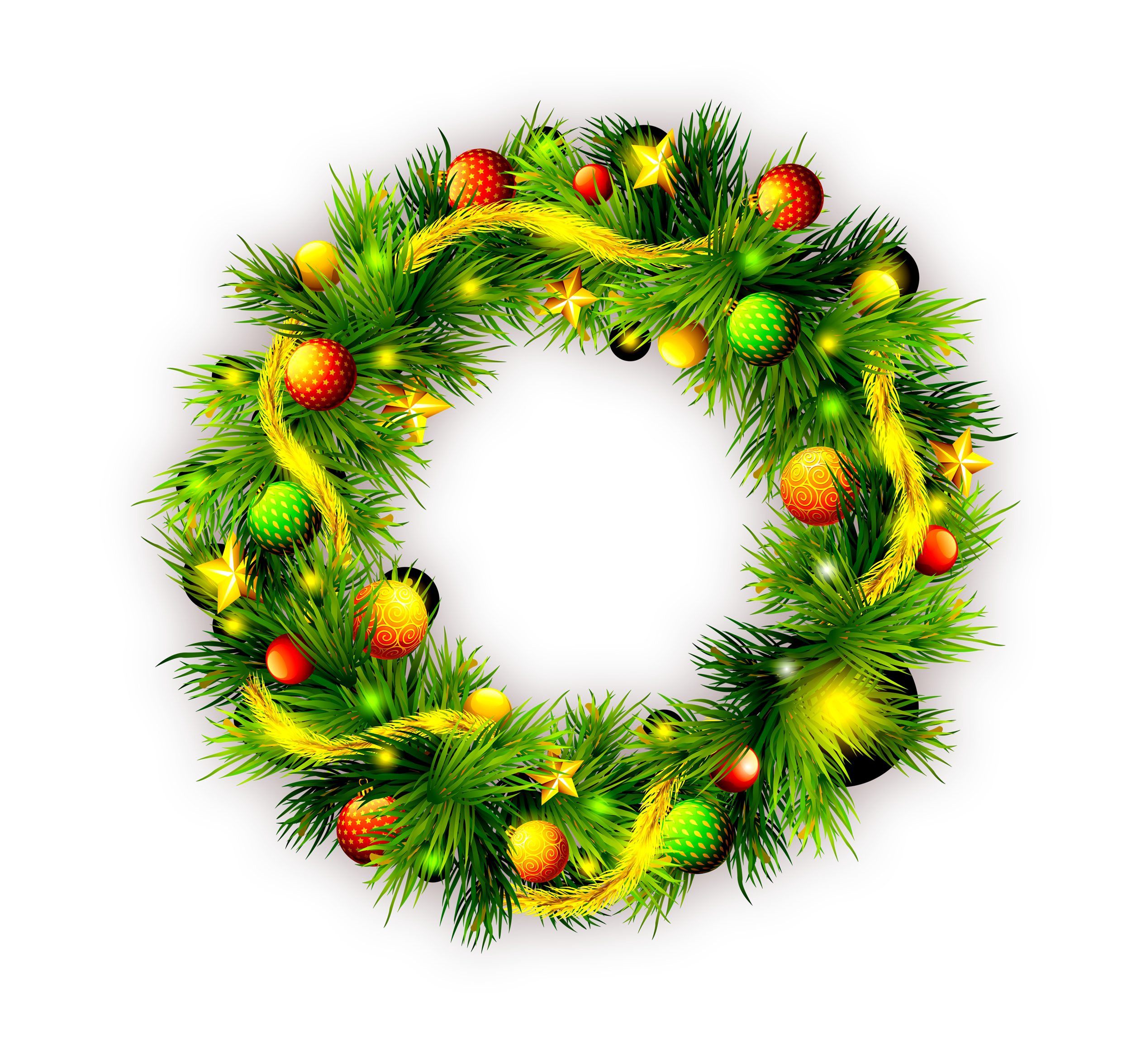 Christmas decorated pine cones png. Wreath gift garland green