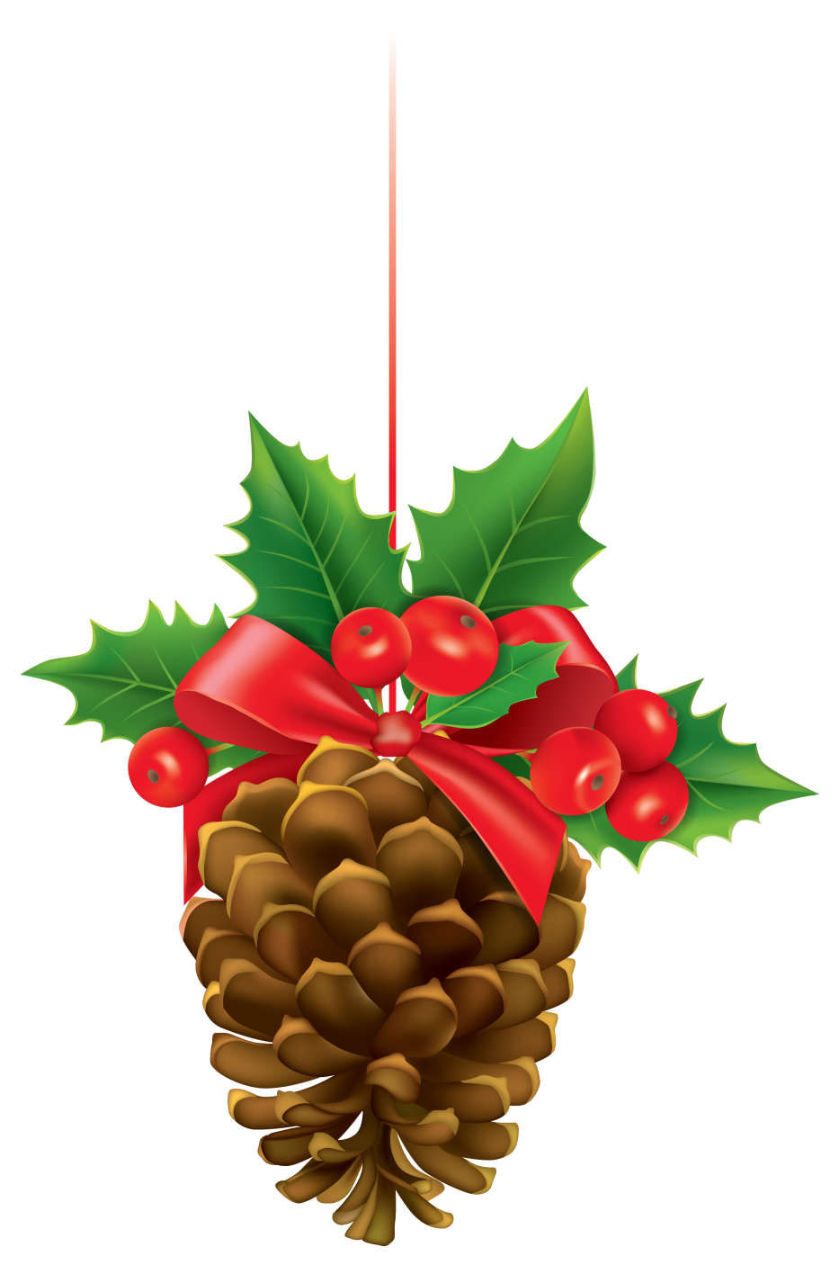 Christmas decorated pine cones png. Cone clipart cartoon pencil