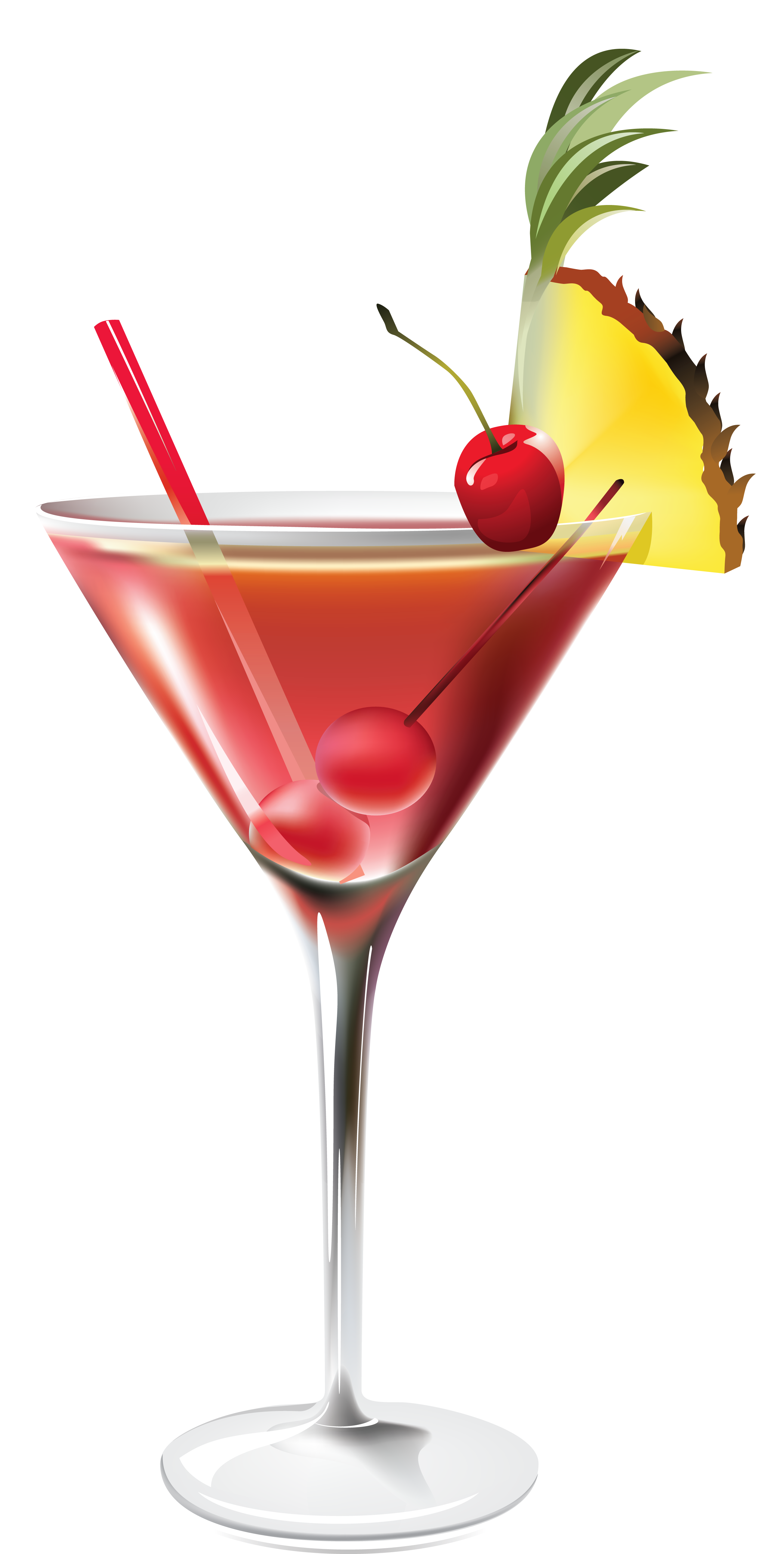 Drinks png. Cocktail with pineapple clipart