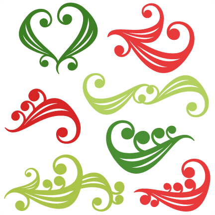 And svg christmas. Flourishes scrapbook title cut