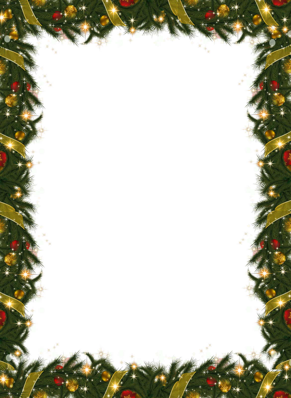 Christmas garland border png. Holiday frame with gallery