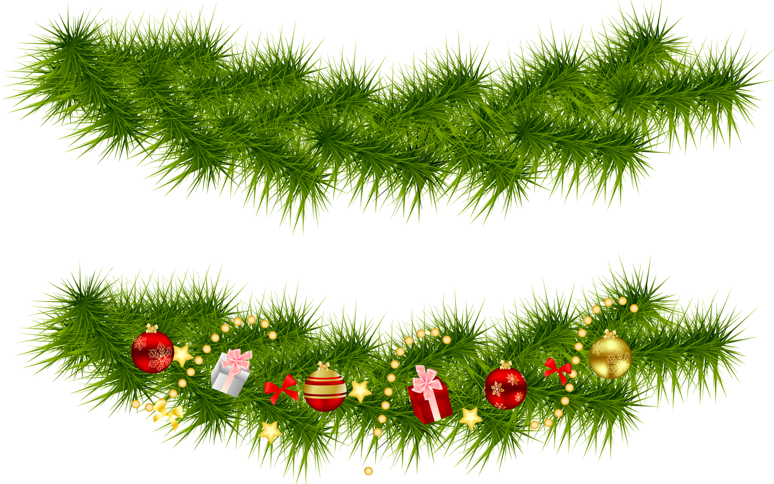 Christmas garland border transparent png. Pine garlands gallery yopriceville