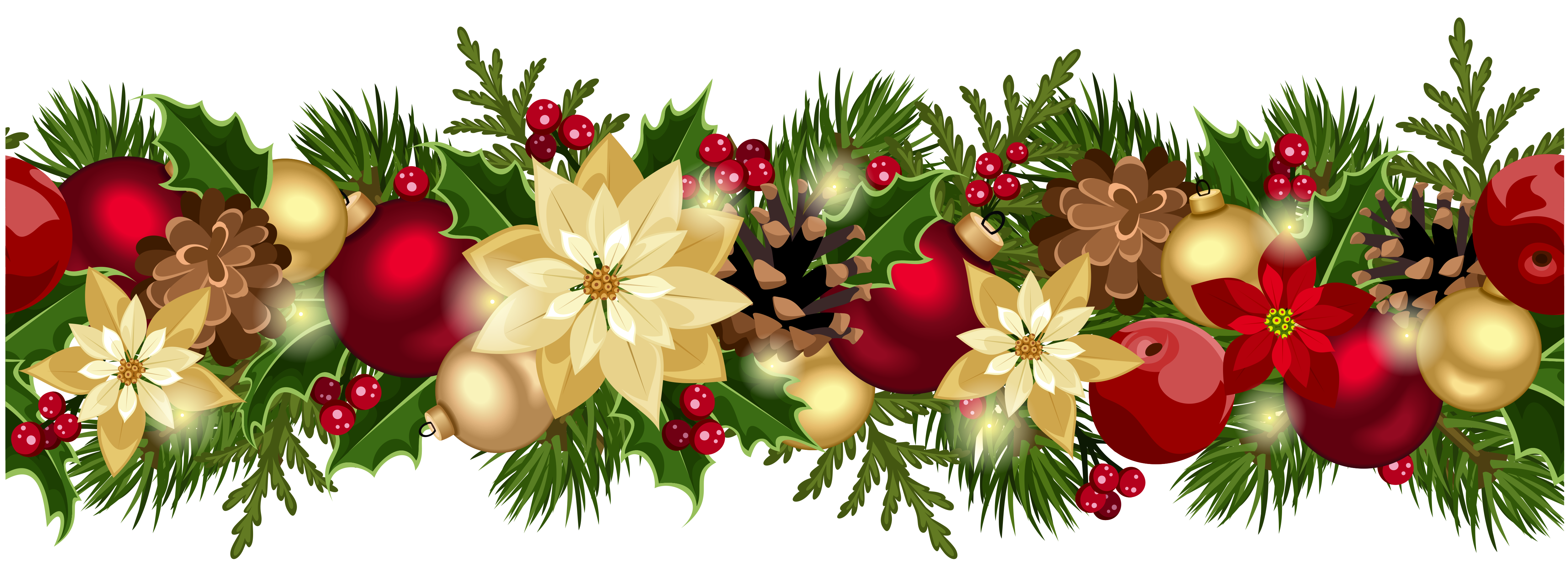 Christmas garland border transparent png. Holiday crafthubs background cover