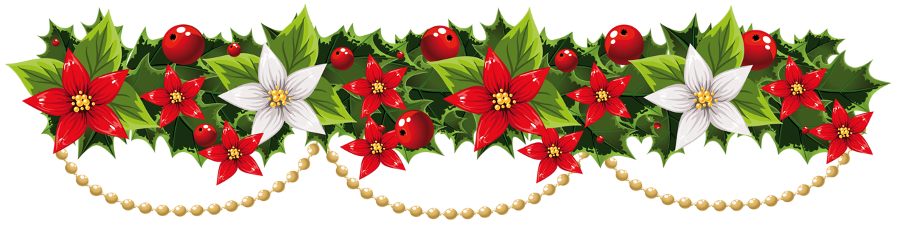 Christmas garland clipart png. Poinsettia pin amy on