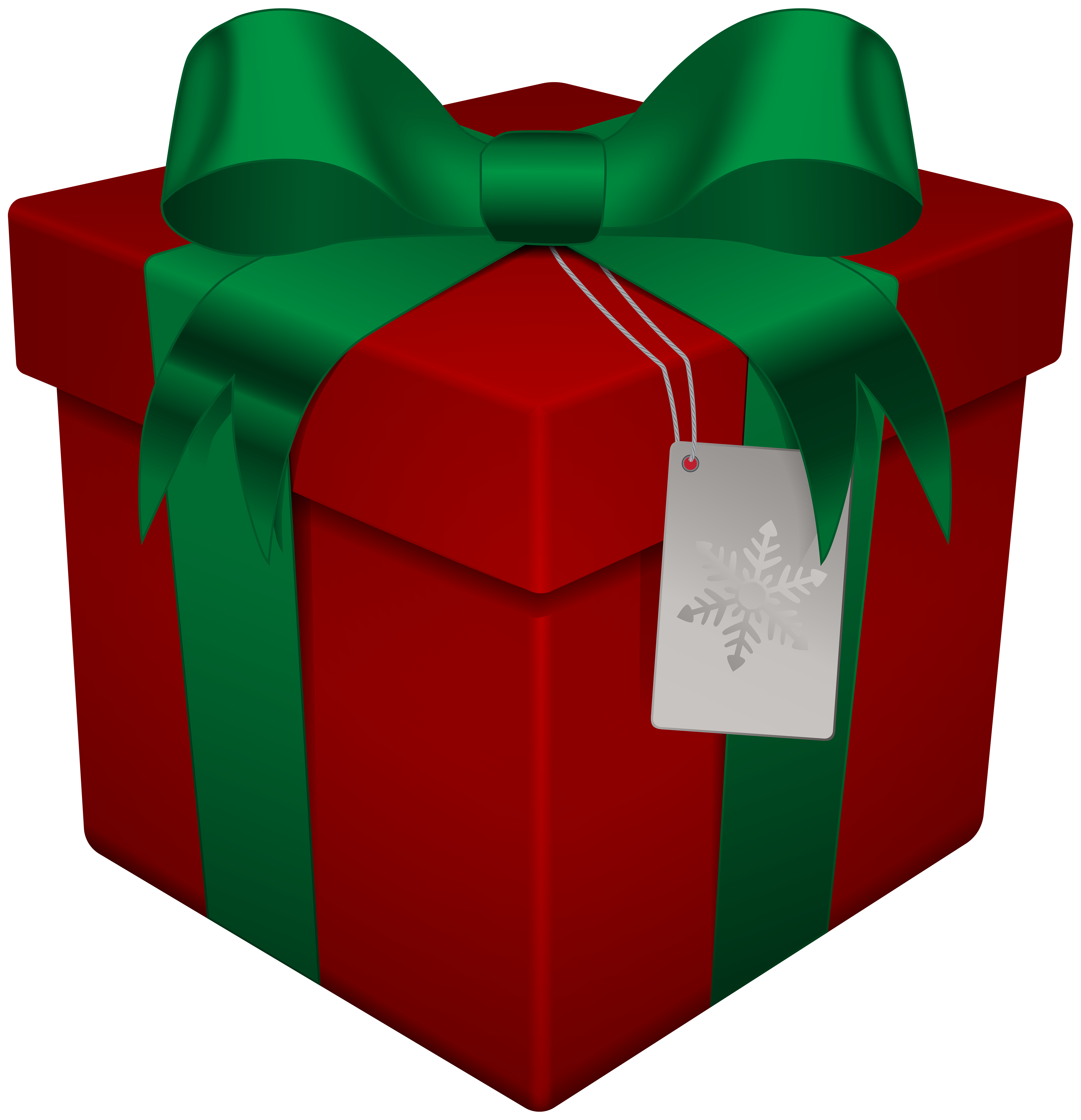 Christmas gift box png. Red transparent clip art