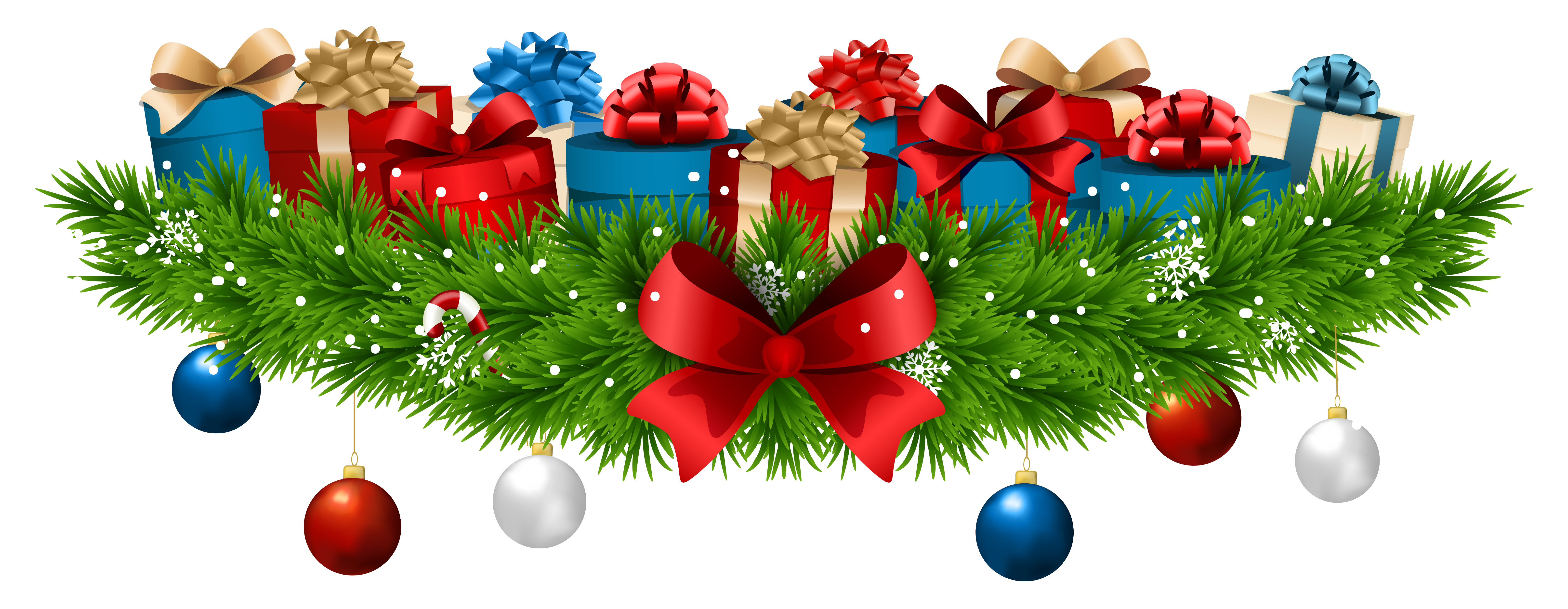 Christmas gift png. Decoration with gifts clip