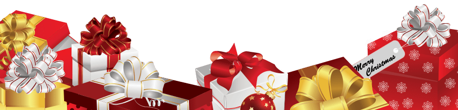 Christmas gifts png. Footer transparent stickpng