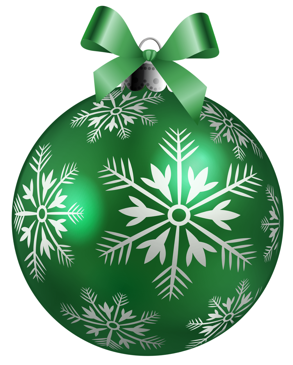 Christmas green png. Large ball clipart picture