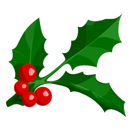 Holly leaf png. Christmas image royalty free