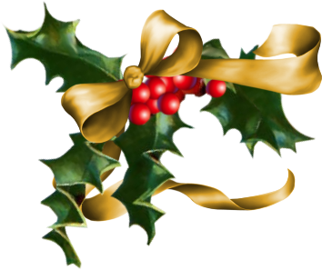 Transparent holly and ivy. Free christmas graphics download