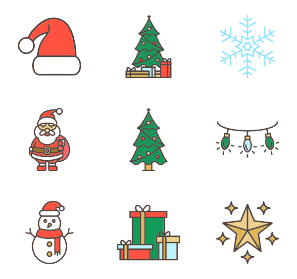 Christmas icon png. Packs vector svg
