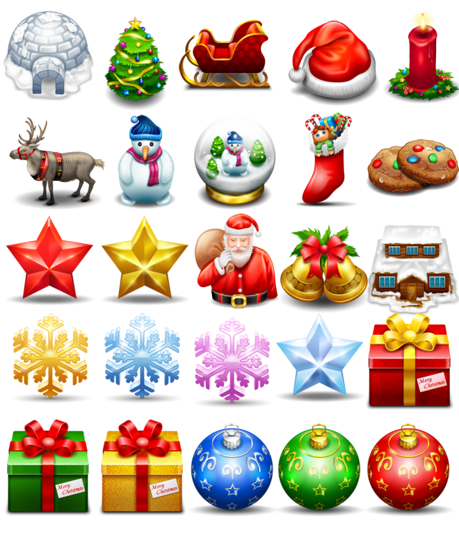 Christmas icons png. Free icon sets
