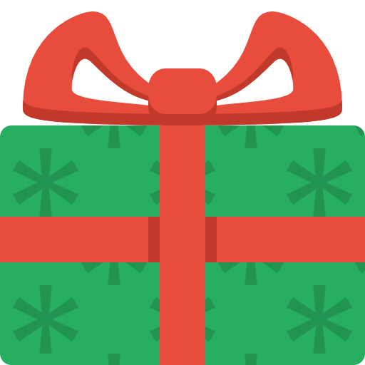 Christmas icons png. Gift icon flat color