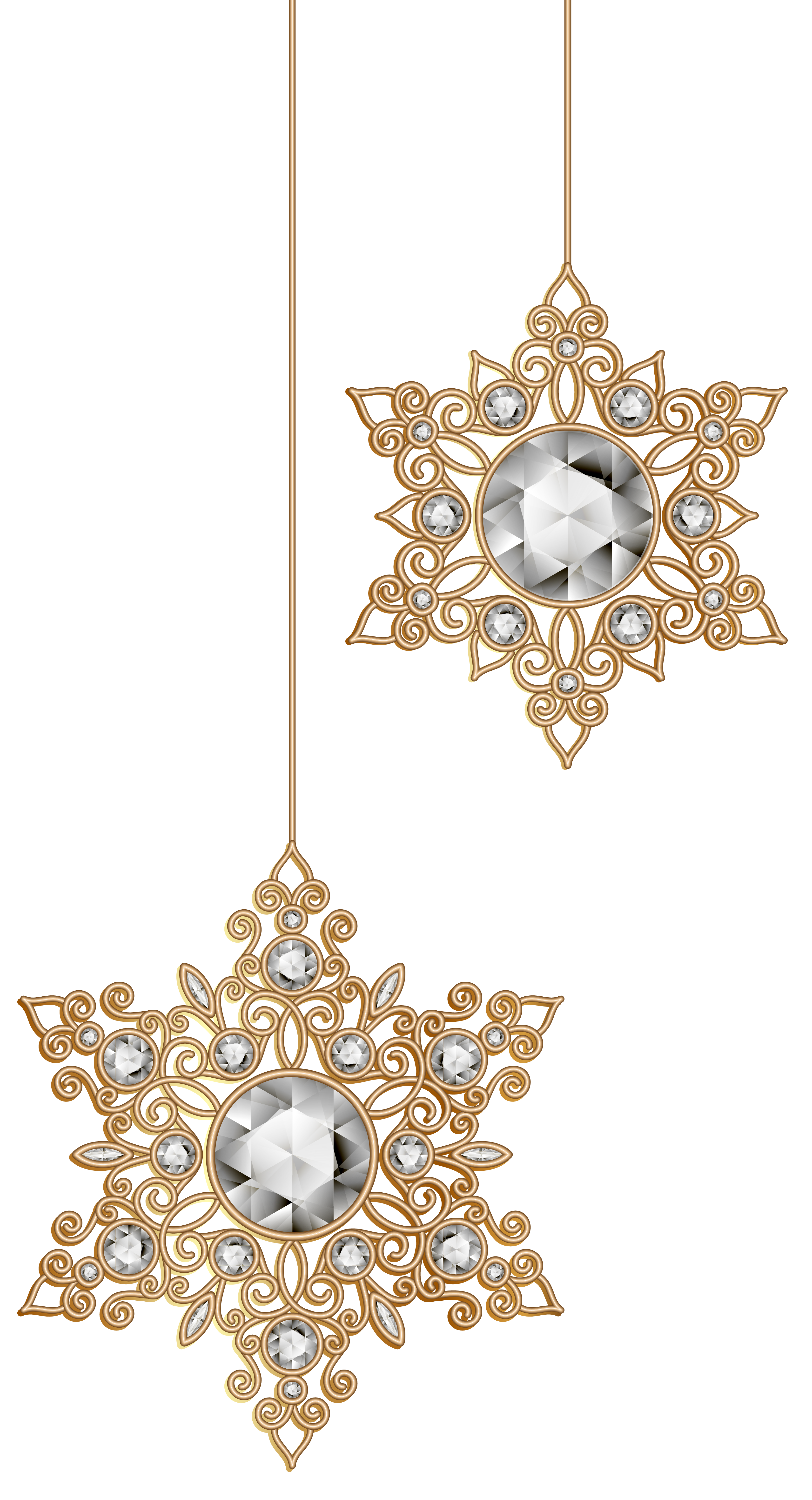 Christmas jewerly ornaments png. Snowflakes clip art image