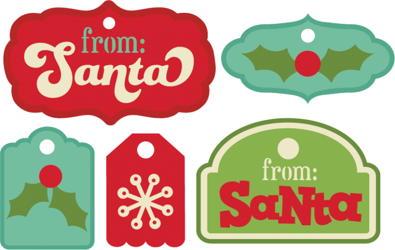 Svg tags. Christmas cutting files