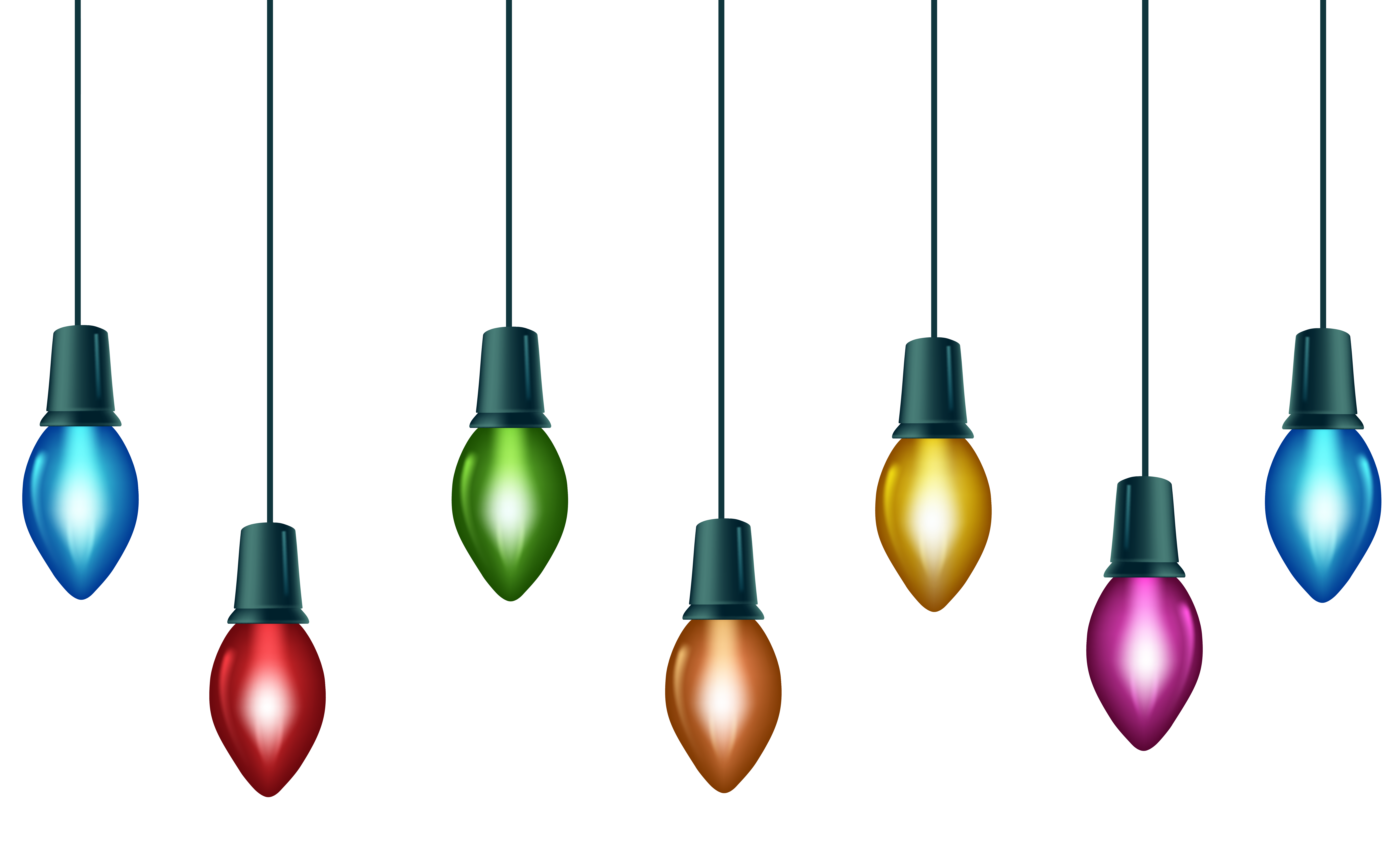 Christmas light string png. Bulb clipart at getdrawings